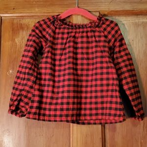 **5/$25** Carter's Black/Red Checkered Top Size 3T